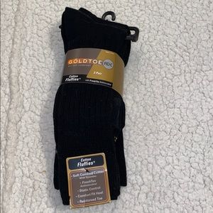 Gold Toe Cotton Fluffies Socks - size 6 - 12